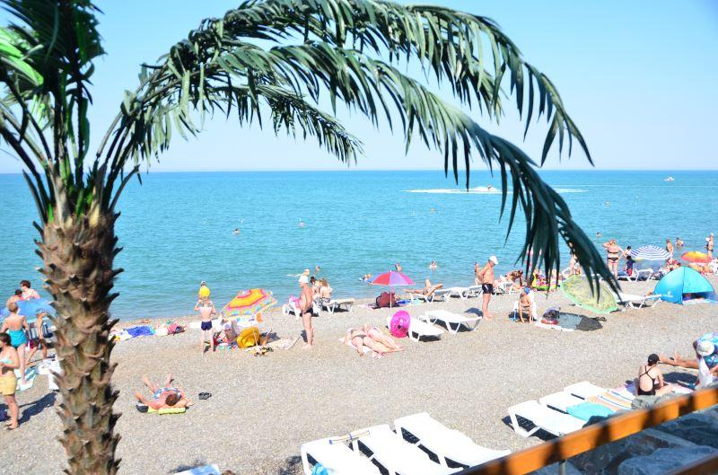 Море и пляж в поселке Николаевка